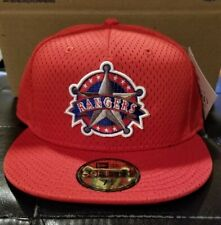 Texas Rangers batting practice hat New Era fitted hat size 7 5/8