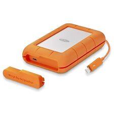 LaCie Rugged 4TB Disco Duro Externo De Escritorio en naranja-USB3.0 y Thunderbolt