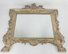 Antique Decorative Neo-Classical Silver Plated Mirror Renaissance Revival