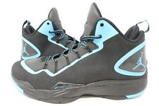 Jordan Super.Fly 2 PO Basketball Black/Dark Powder Blue 3M 645058-006 SZ 12