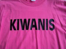 KIWANIS CLUB T-SHIRT LARGE LRG MEN'S PINK  BREAST AWARENESS MONTH