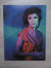 Audrey Tautou autógrafo signed a4 Revista Imagen