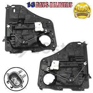 Pair ( 2 ) Window Regulator W/ Motor Assembly fits Rear 07-12 Dodge Nitro