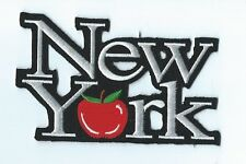 PATCH THERMOCOLLANT NEW YORK / BIG APPLE- 9 X 6 CM- NEUF -DECORATION USA /BIKER