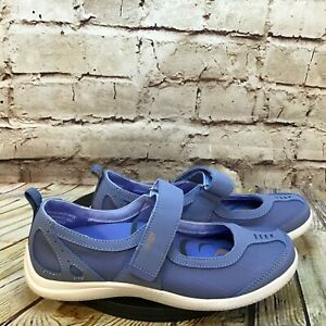 Copper Fit Balance Women's Blue Closed Toe Adjustable Mary Jane Strap Size 7 B
