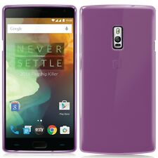 Case Back Cover Silicone GEL Orzly Flexicase for One Plus 2 Smoke Purple
