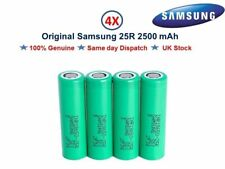 4x Authentic SAMSUNG 25R 18650 INR 20A 2500mAh Flat Top Battery For Vape Mods-UK