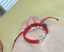 For Baby Newborn Bracelet Silver 925 Infinity & Blue Eye Red Protection Handmade