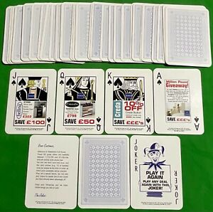 Old Non Standard * WATERLINES FULL HOUSE * Advertising Wide Pack Playing Cards