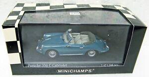 1965 Porsche 356 C Cabriolet blue 1/43 Minichamps 430 062334 MB