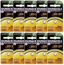 10 Duracell 357 303 A76 PX76 SR44W/SW LR44 AG13 Silver Oxide Battery