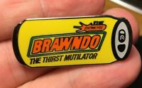Idiocracy Brawndo enamel pin retro cult classic movie Mike Judge hat lapel bag