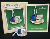 Hallmark Miniature Ornament Just for Santa 2004 Christmas Eve Cookies Keepsake