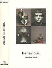PET SHOP BOYS BEHAVIOUR CASSETTE ALBUM ELECTRONIC SYNTH-POP PARLOPHONE/EMI
