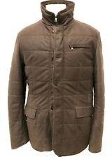 Nordstroms Comstock & Co Mens Genuine Suede Puffer Jacket - Choc. Brown 44/Large