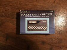 New listing New Radio Shack Pocket Spell Checker 63-930
