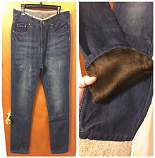 New Fashion Mens Keep warm Straight Slim Fit Denim Jeans Trousers Casual Pants