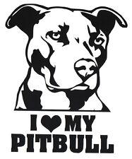 Vinyl Decal Sticker Custom Car Truck Window Graphic Pitbull Dog Pet Animal