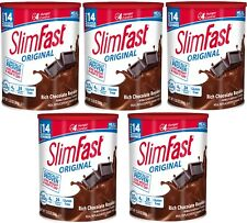 SlimFast Nutrition Meal Replacement Chocolate Shake Weight Loss 12 Oz (5 Packs)