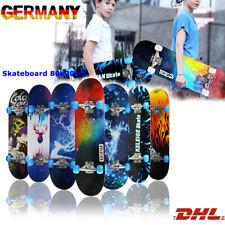 LETGOSPT Skateboard Kinderskateboard Komplettboard Funboard Holzboard 80x20cm