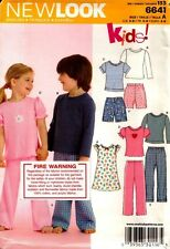New Look Sewing Pattern 6641 Kids Pajamas and Nightdresses
