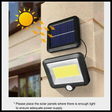 100 LED Solar Wall Lights MOTION SENSOR Outdoor Garden Security Lamps Waterproof