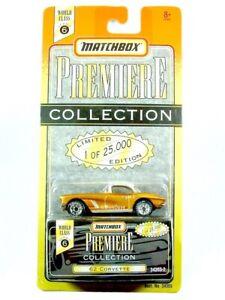MATCHBOX / 1962 Chevrolet Corvette (Gold) / PREMIERE COLLECTION.