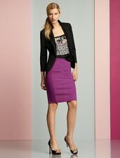 White House Black Market AW Pencil Skirt Very Berry Purple Color Size 0 $98 NWT