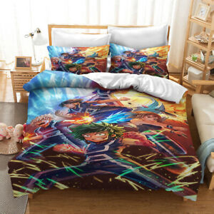 Anime My Hero Academia Single/Double/Quilt//Queen Bed /king/Duvet Cover Set