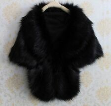 WINTER Faux Fur Wrap Bridal Bolero Warm Shawl PARTY Women's Shrug Stole Jacket
