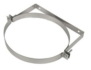 Stove Pipe Support Wall Bracket Clamp Chimney Flue Liner Holder Tubing Clip