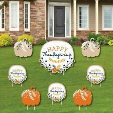 Big Dot Of Happiness Happy Thanksgiving - Yard Sign And Outdoor Lawn - Fall - 8