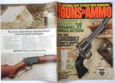 Vintage Magazine GUNS & AMMO April 1974 M 16 Voere K 14 Rifle Ruger Marlin