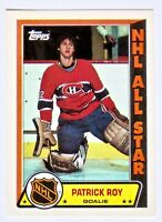 1989-90 Topps STICKERS Patrick Roy *NHL ALL-STAR* #6 HOF! Canadiens! Avalanche!