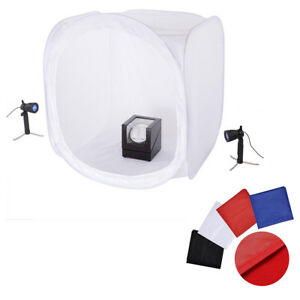 91cm Photography Photo Soft Box Light Tent Cube 4 Backdrops Studio Lighting Kit