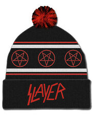 Slayer Razor Pentagram Music Rock Band Metal Bobble Beanie Adult Hat SLA1014H