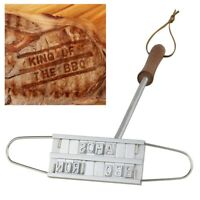 STEAK MEAT BARBECUE BBQ BRANDING IRON CHANGEABLE LETTERS BBQ TOOL 55 LETTERS USA