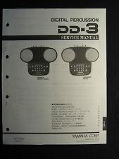 Yamaha Digital Percussion DD-3 Service Shop Manual Schematics Parts List DD3