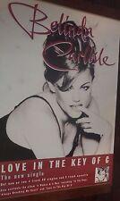 "40x60"" HUGE SUBWAY POSTER~Belinda Carlisle The Go-Go's 1996 Love In Key of C NOS"