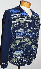 Northern Reflections Parkhurst Made in Canada Cottage Print Cardigan Sweater S
