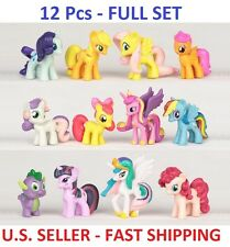 12 Pcs - My Little Pony CAKE TOPPER Figures Birthday Party Favor, Toy Cupcakes