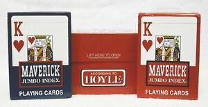 CARTON OF 12 HOYLE MAVERICK JUMBO FACE  PLAYING CARDS  - NEW - SEALED  ZHOY-1206