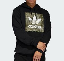adidas Originals Dakari Logo Hoodie hoody top trefoil black Large mens NEW