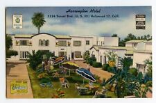 Postcard Harrington Motel Sunset Blvd. Hollywood California Standard View Card