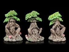 Greenman Figuren - Nichts Böses - Baumgeist lustig Geschenk Deko
