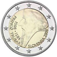 Slowenien 2 Euro 2008 Primož Trubar Gedenkmünze bankfrisch Primus Truber