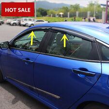 Window Visor Vent Shades Sun Rain Guard 4pcs For Honda Civic 4dr Sedan 2016 2017