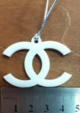 VIP Chanel logo with pendant white new plastic keychain