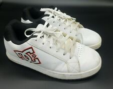 DC Shoe 'Court RS SE' White Red Leather Low Top Skate Shoes - Men's Size 9.5
