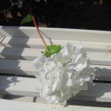 Wedding Bridal Party Home Decor Artificial Hydrangea Bouquet Silk Flowers Leaf